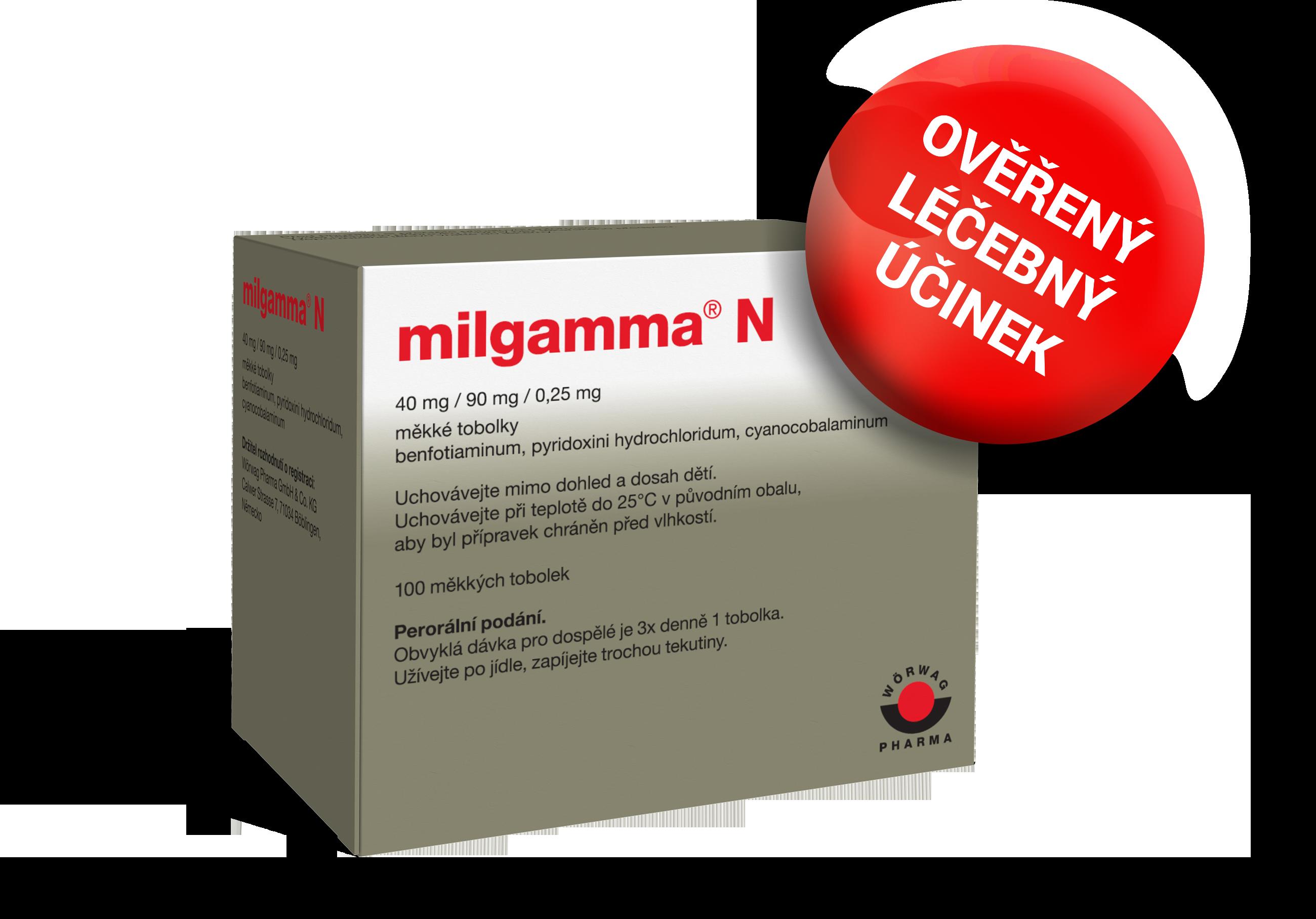 liek na bolesť chrbta Milgamma N